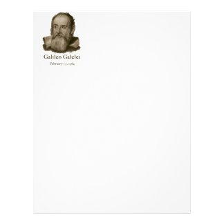 Papel con membrete de Galileo Membrete A Diseño