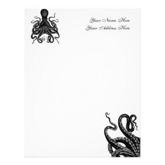 Papel con membrete de Kraken Membrete A Diseño