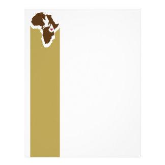 Papel con membrete de la cigüeña de África Plantilla De Membrete