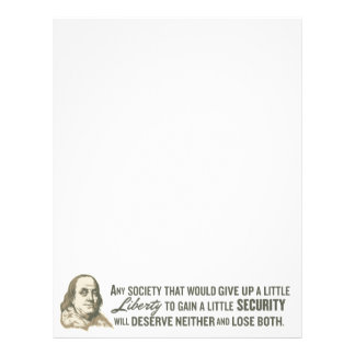 Papel con membrete de la cita de Ben Franklin Plantilla De Membrete