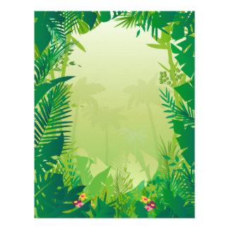 Papel con membrete de la selva membrete a diseño