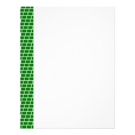 Papel con membrete de la V-Tira de GreenBrick Membretes Personalizados