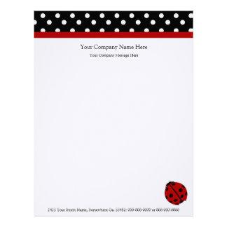 Papel con membrete de Ladybug Company Membrete A Diseño