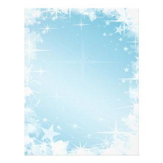 Papel con membrete de las estrellas azules del día membretes personalizados