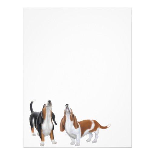 Papel con membrete de los perros de afloramiento d membrete a diseño