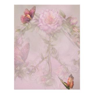 Papel con membrete de los rosas de la paz plantillas de membrete