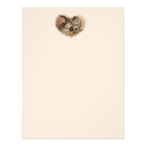 papel con membrete del amor del gato plantillas de membrete