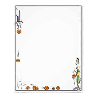 Papel con membrete del baloncesto membretes personalizados