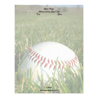 Papel con membrete del béisbol plantillas de membrete