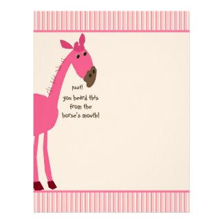 Papel con membrete del caballo membrete personalizado