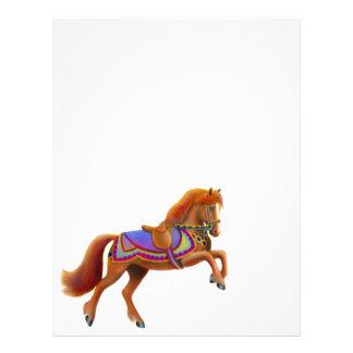 Papel con membrete del caballo del circo plantilla de membrete