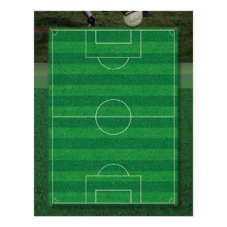 Papel con membrete del campo de fútbol membrete personalizado