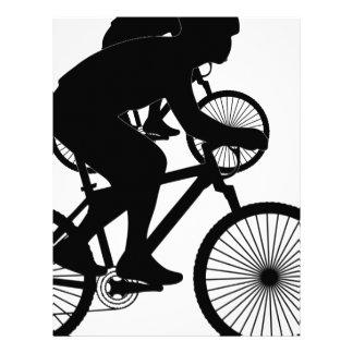 Papel con membrete del ciclista membrete a diseño