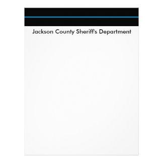 Papel con membrete del departamento de sheriff membrete