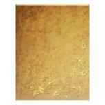 Papel con membrete del detalle del oro membretes personalizados