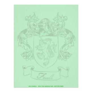 Papel con membrete del escudo de Farrell Membrete