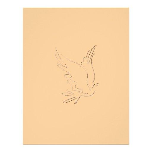 Papel con membrete del esquema de la paloma membrete