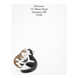 Papel con membrete del gato y del gatito de la mad membretes personalizados