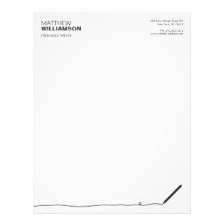 Papel con membrete del lápiz para los autores, membretes personalizados