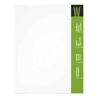 Papel con membrete del monograma de la verticalida membretes personalizados