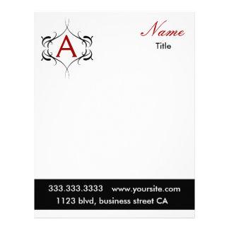 papel con membrete del monograma membrete
