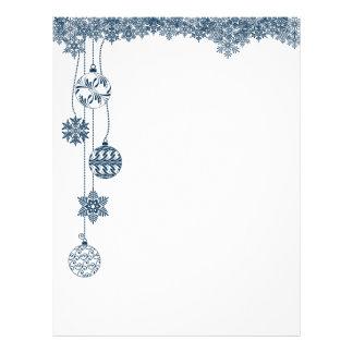 Papel con membrete del navidad de los ornamentos y membrete personalizado