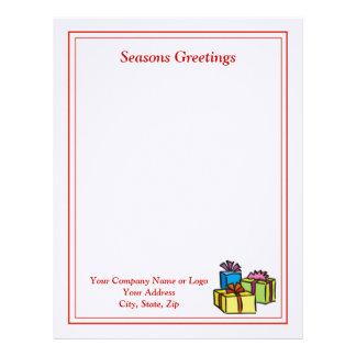 Papel con membrete del navidad del negocio - diseñ membretes personalizados
