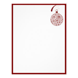 Papel con membrete del navidad del ornamento del c plantillas de membrete