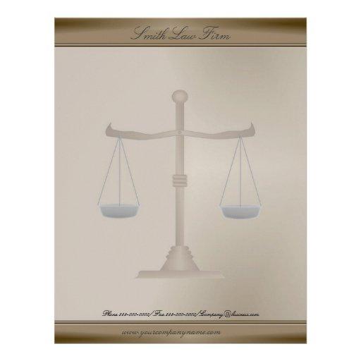 Papel con membrete del negocio del abogado membrete personalizado