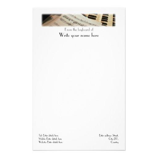 Papel con membrete del papel de carta del papelería personalizada