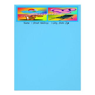 Papel con membrete del personalizable del collage  membretes personalizados