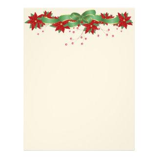 Papel con membrete del Poinsettia del navidad Membrete A Diseño
