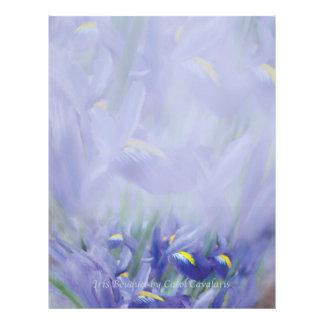 Papel con membrete del ramo del iris membrete