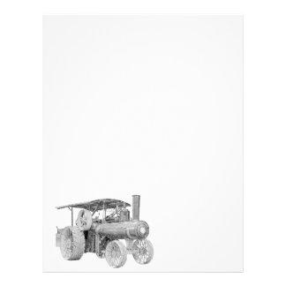 Papel con membrete del tractor del vintage plantillas de membrete