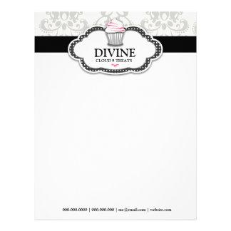 Papel con membrete divino de 311 puntos del rosa membrete a diseño