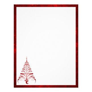 Papel con membrete elegante del árbol de navidad membretes personalizados