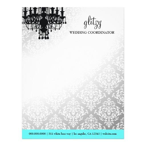 Papel con membrete elegante glamoroso de la turque membretes personalizados