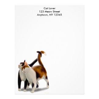 Papel con membrete felino de los amigos membretes personalizados