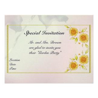 Papel con membrete floral membrete personalizado
