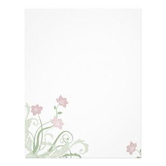 Papel con membrete floral de color de malva membrete a diseño