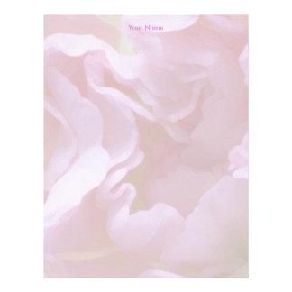 Papel con membrete floral rosado plantilla de membrete