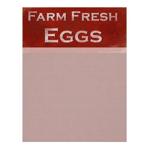 Papel con membrete fresco de los huevos de la gran plantilla de membrete