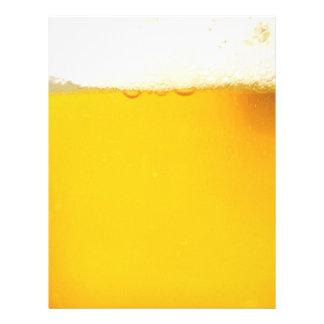Papel con membrete fresco sabroso de la cerveza membrete