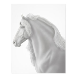 Papel con membrete frisio del caballo plantilla de membrete