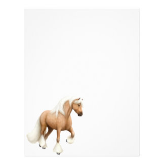Papel con membrete irlandés del caballo de la mazo membretes personalizados