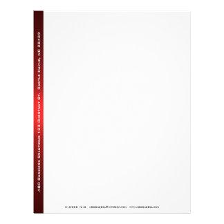 Papel con membrete negro y rojo del negocio membretes personalizados