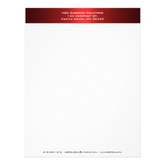 Papel con membrete negro y rojo del negocio membrete a diseño