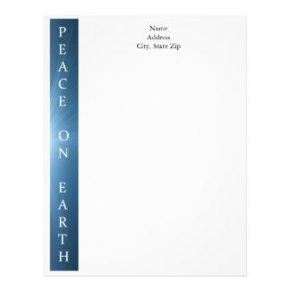 Papel con membrete personalizado del navidad - paz