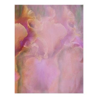 Papel con membrete pintado del iris membretes personalizados