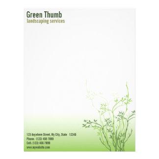 Papel con membrete profesional simplemente verde d plantilla de membrete